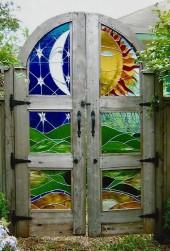 EL Sol Y La Luna Garden Gate - Randy Silkwater