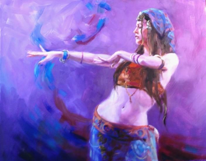 Purple Belly Dancer - Eve Larson